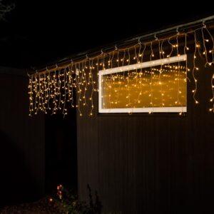 pazari4all-LED Χριστουγεννιάτικα Φωτάκια Κουρτίνα 3.16m με 100 Λαμπάκια σε Λευκό Θερμό