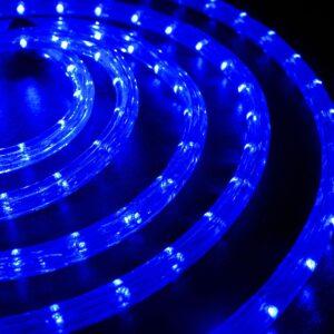pazari4all-Χριστουγεννιάτικο Διακοσμητικός LED Φωτοσωλήνας 10m Μπλε Αδιάβροχος