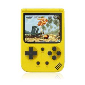 pazari4all-Επαναφορτιζόμενη Φορητή Κονσόλα Ρετρό Παιχνιδιών με 500 παιχνίδια New Sup 2.0 Inch LCD L Κίτρινο