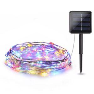 pazari4all-Ηλιακά χριστουγεννιάτικα φωτάκια LED 10m RGB