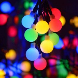 pazari4all-Ηλιακά Χριστουγεννιάτικα Λαμπάκια RGB Πολύχρωμου Παστέλ Φωτισμού - Φωτάκια 30 LED με Φωτοκύτταρο & Φωτοβολταϊκό Πάνελ 6m