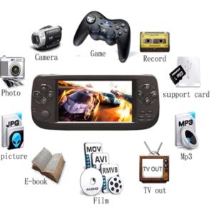 pazari4all-PAP KIII Ρετρό κονσόλα παιχνιδιών 4,3 ιντσών HD με ενσωματωμένα 3000 κλασικά παιχνίδια 64 bit και υποστήριξη AV