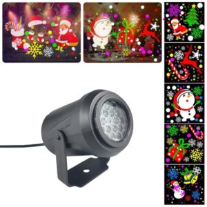 pazari4all-LED Προβολέας Εσωτερικού Χώρου με Χριστουγεννιάτικα Σχέδια