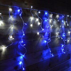 pazari4all-LED Χριστουγεννιάτικα Φωτάκια Κουρτίνα 2m με 100 Λαμπάκια με Μπλε & Λευκό Ψυχρό Χρώμα
