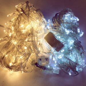 pazari4all-LED Χριστουγεννιάτικα Φωτάκια Κουρτίνα 2m με 100 Λαμπάκια με Λευκό Θερμό & Ψυχρό Χρώμα