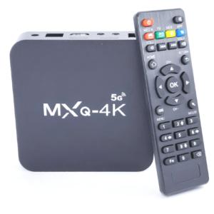 pazari4all-Επαγγελματικό TV Box MXQ Pro-4K (4G/64GB), Εύκολο στη χρήση με Android 9 WiFi 2.4G/5G HEVC H.265