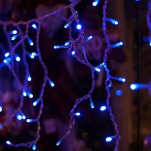 pazari4all-LED Χριστουγεννιάτικα Φωτάκια Κουρτίνα 2m σε Μπλε Χρώμα