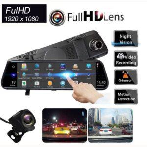 """pazari4all-Καθρέπτης Αυτοκινήτου με Οθόνη Αφής LCD 10"""", Κάμερα Full HD DVR & Κάμερα Οπισθοπορείας"""