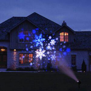 pazari4all-Νυχτερινός Χριστουγεννιάτικος Προβολέας Laser USB με Χιονονιφάδες ΟΕΜ – Μαύρο