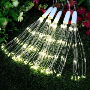 pazari4all-Κρεμαστή Λάμπα Πυροτέχνημα - Κουρτίνα 250 LED - Λευκό Θερμό Φως