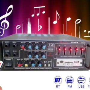 pazari4all-Επαγγελματική Κονσόλα/Ενισχυτής Ήχου - Bluetooth USB/SD BT-868 FM AC220V