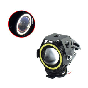 pazari4all-Αδιάβροχος προβολέας μοτοσυκλέτας Cree LED U7 mini Angel Eye με λευκό φως στεφάνης μαύρου χρώματος 1 τεμ. IP67