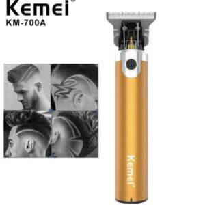 pazari4all-Επαναφορτιζόμενη μηχανή Trimmer KEMEI KM-700A Gold