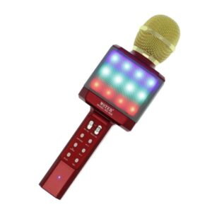 pazari4all-Ασύρματο μικρόφωνο Karaoke με Βluetooth ηχείο κόκκινο WS-1828