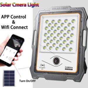 pazari4all-Υψηλής φωτεινότητας εξωτερικός ηλιακός προβολέας με κάμερα CCTV και wifi 100W MJ-DW901