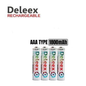 pazari4all-Μπαταρίες επαναφορτιζόμενες ΑΑΑ Deleex 1800mah