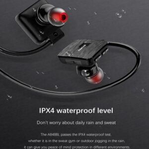 pazari4all-Αδιάβροχα Ασύρματα Ακουστικά Bluetooth για Τρέξιμο & Άθληση V4.2 - AWEI Wireless Sport Headset Handsfree A848BL