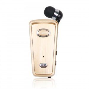 pazari4all-Ακουστικό Bluetoοth HandsFree AKZ-Q2 mini headset, σε χρυσό χρώμα