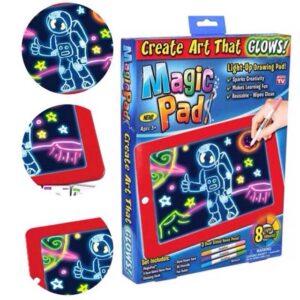 pazari4all-Φορητό Τάμπλετ Ζωγραφικής - Magic Sketchpad με Φωσφορίζοντα Χρώματα