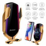 pazari4all-Βάση Κινητού Τηλεφώνου με Ασύρματη Φόρτιση – Smart Sensor R1 Χρυσό