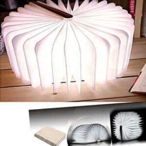 pazari4all-SΕπιτραπέζιο Φωτιστικό LED Αναδιπλούμενο Μεγάλο Σε Ξύλινη Μορφή Βιβλίου Book Lamp